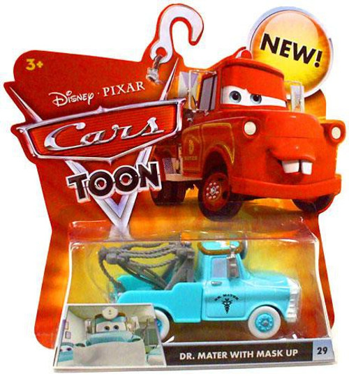 Disney Cars Cars Toon Main Series Dr. Mater with Mask Up Diecast Car #29