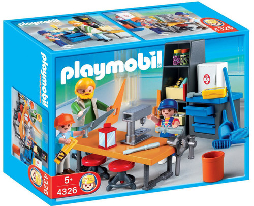 Playmobil School Woodshop Class Set #4326