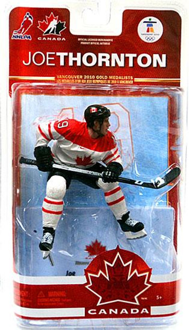 McFarlane Toys NHL San Jose Sharks Sports Picks Team Canada Series 2 Joe Thornton Action Figure [White Jersey]