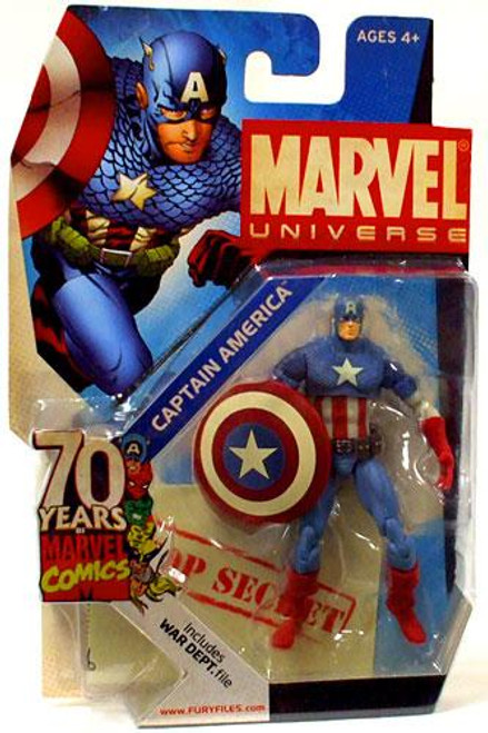 Marvel Universe 70 Years of Marvel Comics Captain America Exclusive Action Figure SD1