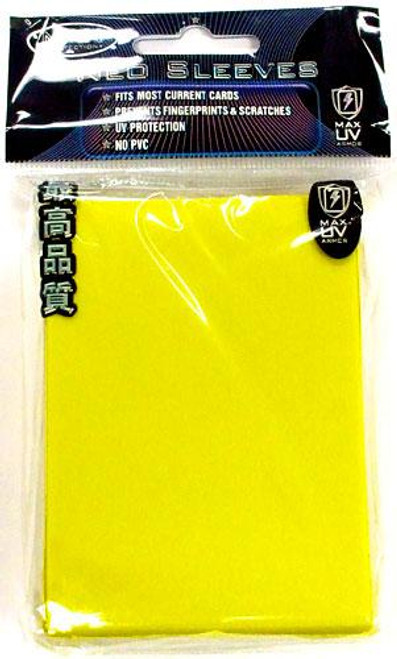 Card Supplies Neo Sleeves Flat Yellow Standard Card Sleeves [50 ct]