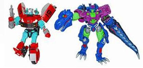 Transformers Timelines Botcon Exclusives Rapido & Cindersaur Exclusive Action Figure 2-Pack