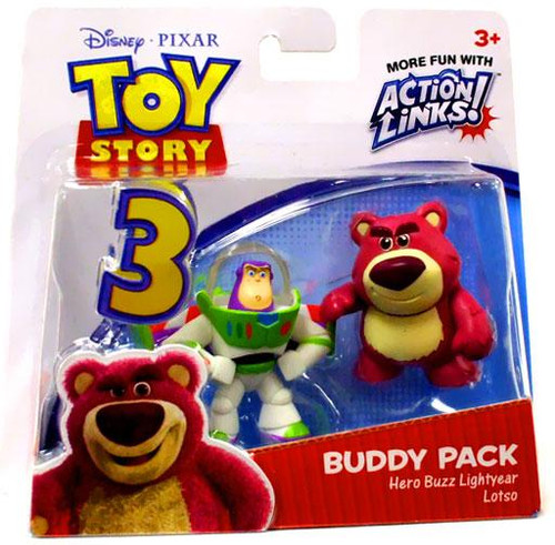 Toy Story 3 Action Links Buddy Pack Hero Buzz Lightyear & Lotso Mini Figure 2-Pack