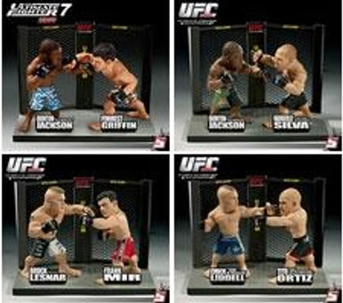 UFC Ultimate Collector Versus Series 1 Set of 4 Action Figure 2-Packs