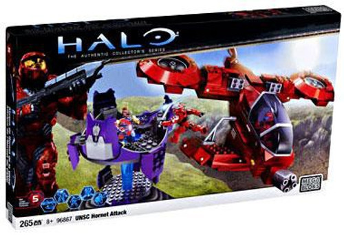Mega Bloks Halo The Authentic Collector's Series UNSC Hornet Attack Exclusive Set #96867
