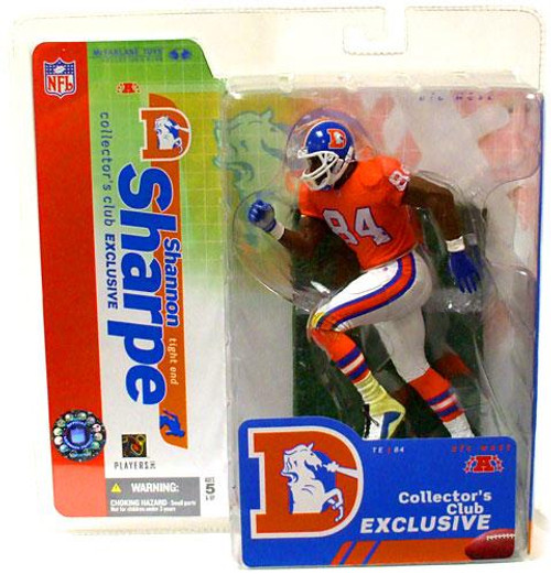 McFarlane Toys NFL Denver Broncos Sports Picks Collectors Club Shannon Sharpe Exclusive Action Figure [Orange Retro Jersey]
