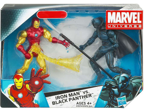 Marvel Universe Iron Man vs. Black Panther Exclusive Action Figure 2-Pack