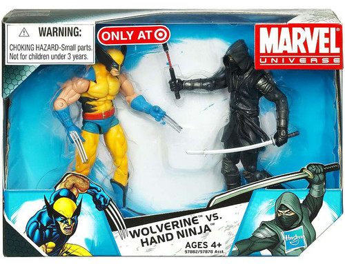 Marvel Universe Wolverine vs. Hand Ninja Exclusive Action Figure 2-Pack