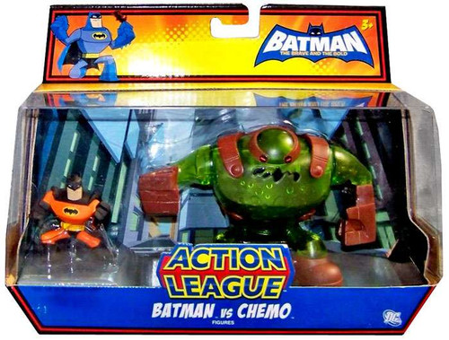 The Brave and the Bold Action League Batman Vs. Chemo Mini Figure 2-Pack