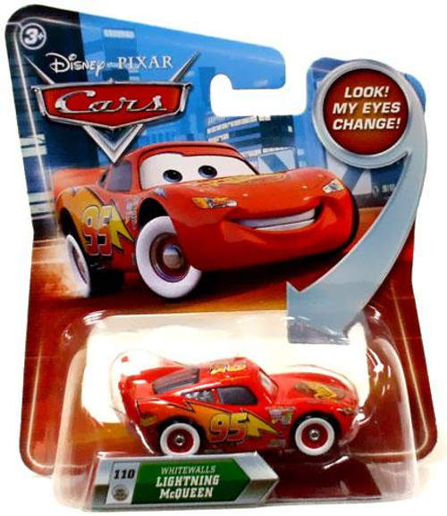 Disney Cars Lenticular Eyes Series 2 Whitewalls Lightning McQueen Diecast Car