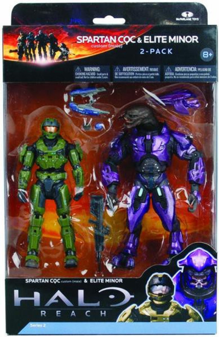 McFarlane Toys Halo Reach Series 2 Spartan CQC & Elite Minor Action Figure 2-Pack