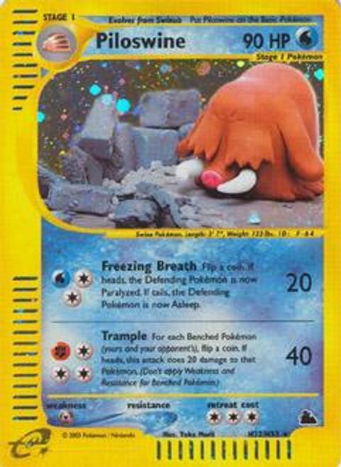 Pokemon Skyridge Rare Holo Piloswine H22
