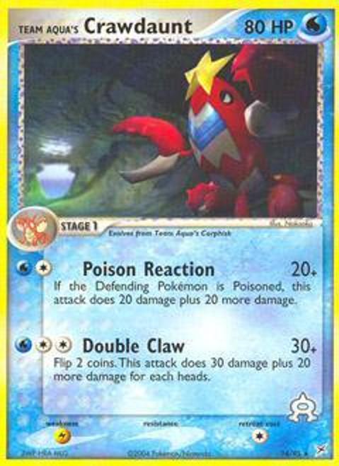 Pokemon EX Team Magma vs Team Aqua Rare Team Aqua's Crawdaunt #14