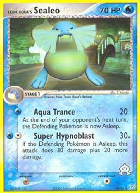 Pokemon EX Team Magma vs Team Aqua Rare Team Aqua's Sealeo #16