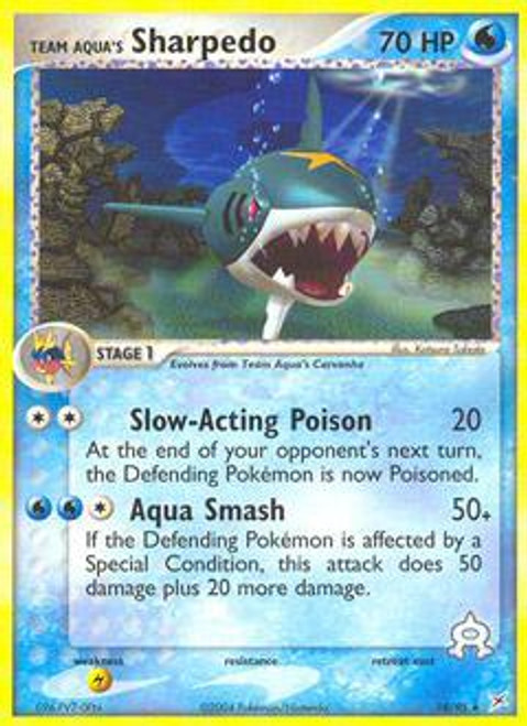 Pokemon EX Team Magma vs Team Aqua Rare Team Aqua's Sharpedo #18