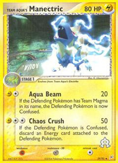 Pokemon EX Team Magma vs Team Aqua Uncommon Team Aqua's Manectric #29