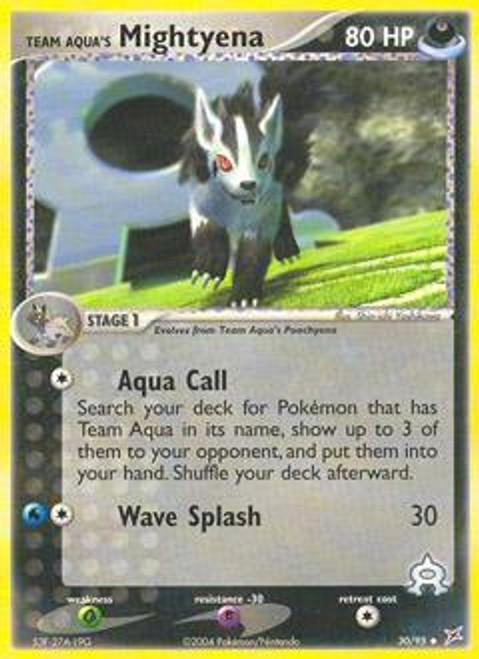 Pokemon EX Team Magma vs Team Aqua Uncommon Team Aqua's Mightyena #30