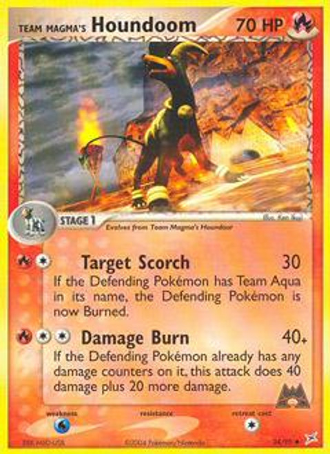 Pokemon EX Team Magma vs Team Aqua Uncommon Team Magma's Houndoom #34
