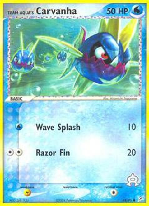 Pokemon EX Team Magma vs Team Aqua Common Team Aqua's Carvanha #48