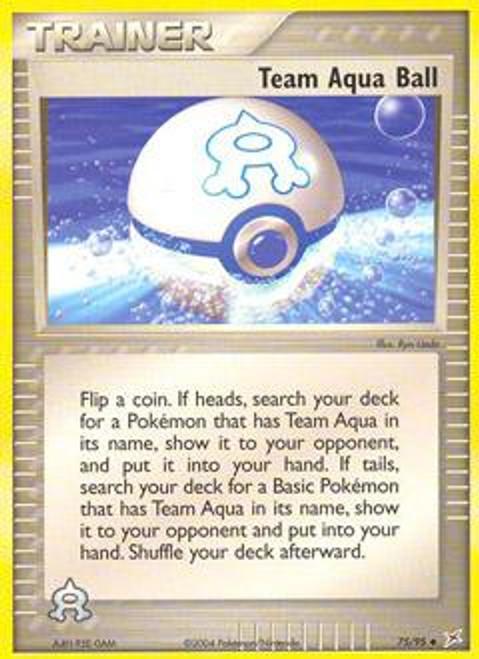 Pokemon EX Team Magma vs Team Aqua Uncommon Team Aqua Ball #75