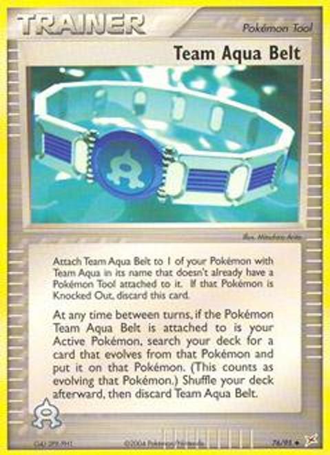 Pokemon EX Team Magma vs Team Aqua Uncommon Team Aqua Belt #76