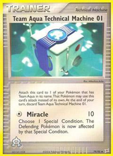 Pokemon EX Team Magma vs Team Aqua Uncommon Team Aqua Technical Machine 01 #79