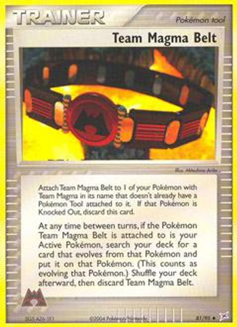 Pokemon EX Team Magma vs Team Aqua Uncommon Team Magma Belt #81