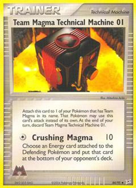 Pokemon EX Team Magma vs Team Aqua Uncommon Team Magma Technical Machine 01 #84