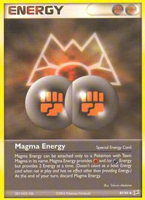 Pokemon EX Team Magma vs Team Aqua Uncommon Magma Energy #87