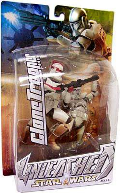 Star Wars Attack of the Clones Unleashed Series 7 Clone Trooper Commander Action Figure