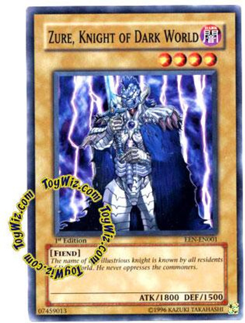 YuGiOh Elemental Energy Common Zure, Knight of Dark World EEN-EN001