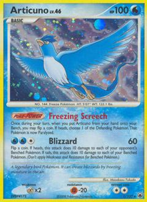 Pokemon Diamond & Pearl Majestic Dawn Rare Articuno #1