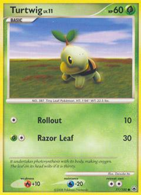 Pokemon Diamond & Pearl Majestic Dawn Common Turtwig #77