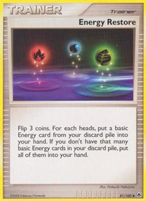 Pokemon Diamond & Pearl Majestic Dawn Uncommon Energy Restore #81