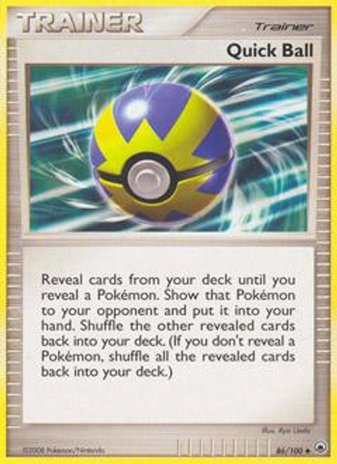 Pokemon Diamond & Pearl Majestic Dawn Uncommon Quick Ball #86