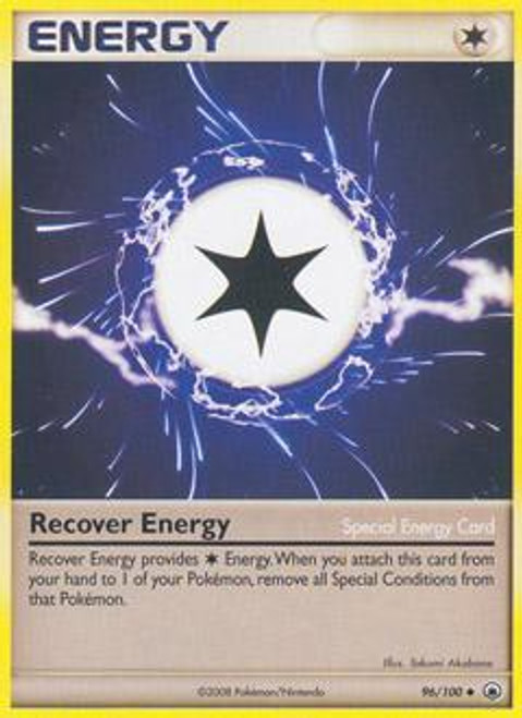 Pokemon Diamond & Pearl Majestic Dawn Uncommon Recover Energy #96