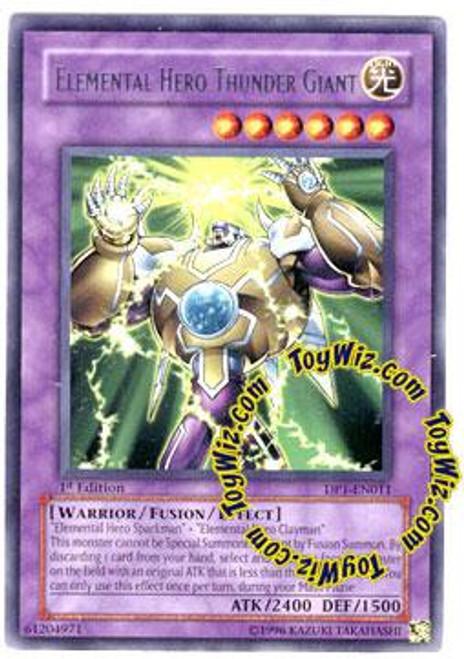 YuGiOh GX Duelist Pack Jaden Yuki Rare Elemental Hero Thunder Giant DP1-EN011