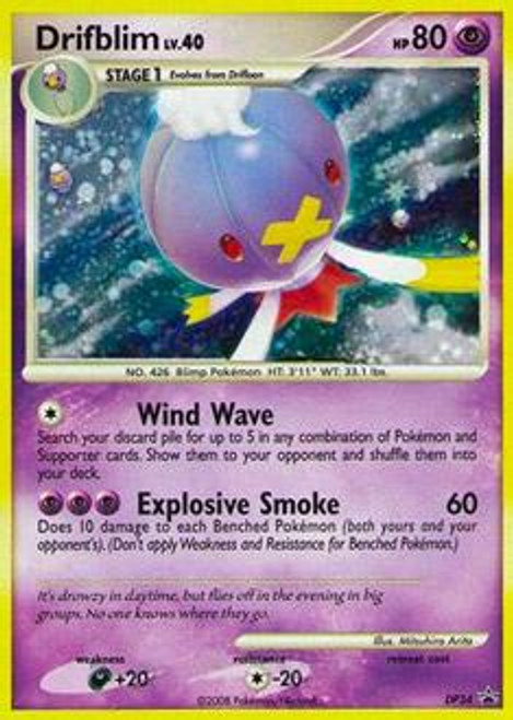 Pokemon Diamond & Pearl Promo Cards Rare Holo Drifblim #34