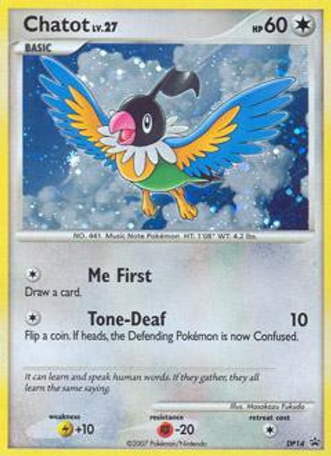 Pokemon Diamond & Pearl Promo Rare Holo Chatot DP14