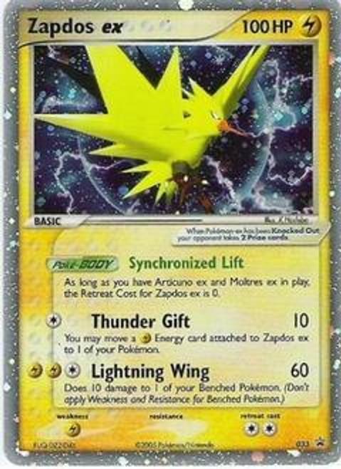 Pokemon Promo Cards Ultra Rare Holo EX Zapdos-EX #33