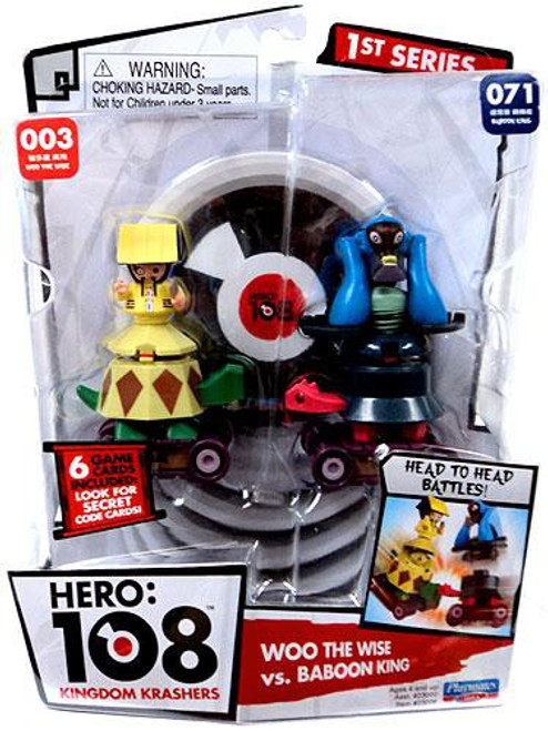 Hero: 108 Kingdom Krashers Series 1 Woo the Wise & Baboon King Action Figure 2-Pack #003 & 071