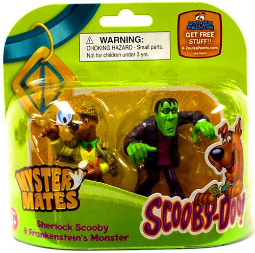 Scooby Doo Mystery Mates Sherlock Scooby & Frankenstein's Monster Mini Figure 2-Pack