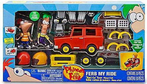 Disney Phineas and Ferb Ferb My Ride Mom's Car Racer Exclusive
