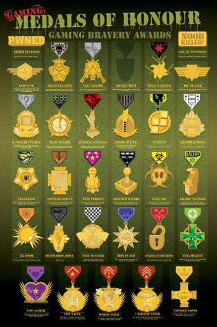 Pop Culture Medals of Honor Poster