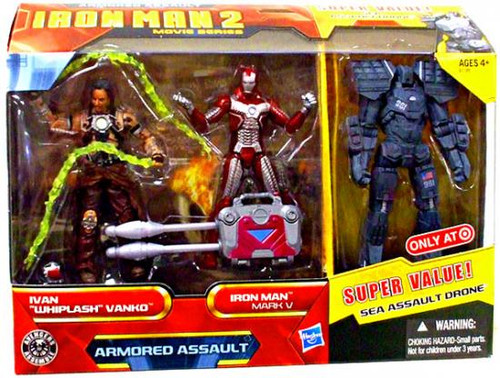 Iron Man 2 Movie Series Armored Assault Exclusive Action Figure Set