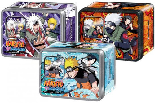 Naruto Shippuden Card Game Set of 3 Untouchable Collector Collector Tins