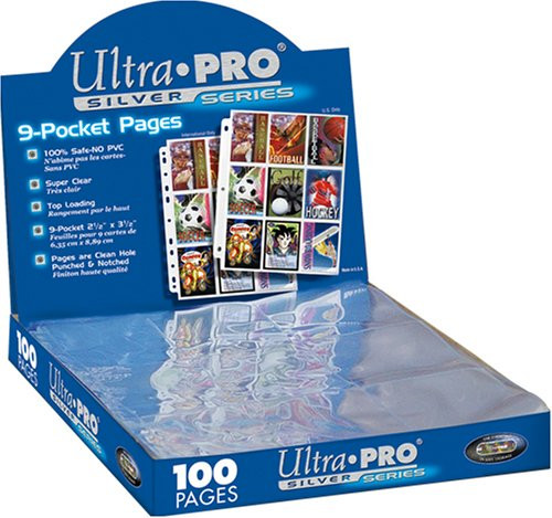Ultra Pro Card Supplies Silver Series 9-Pocket Pages [100 ct]