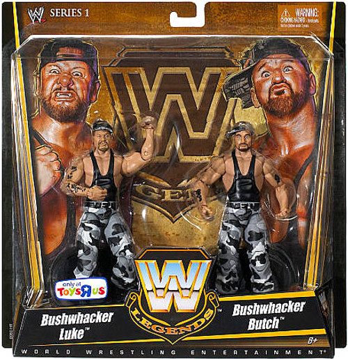 WWE Wrestling Legends Series 1 Bushwhacker Luke & Bushwhacker Butch Exclusive Action Figure 2-Pack