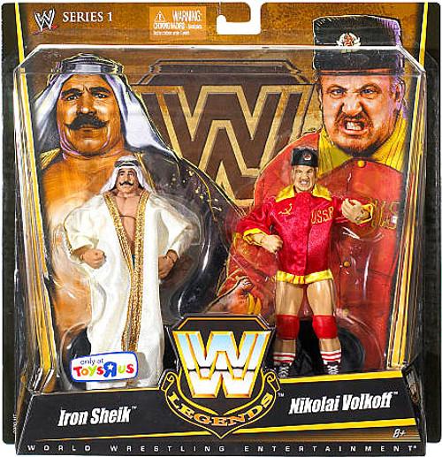 WWE Wrestling Legends Series 1 Iron Sheik & Nikolai Volkoff Exclusive Action Figure 2-Pack