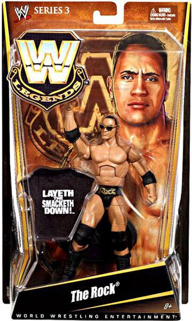 WWE Wrestling Legends Series 3 The Rock Action Figure